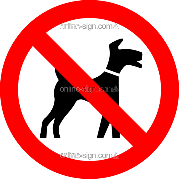 No dogs except assistance dogs No Dogs Allowed Signs Except Guide Dogs