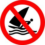 No windsurfing