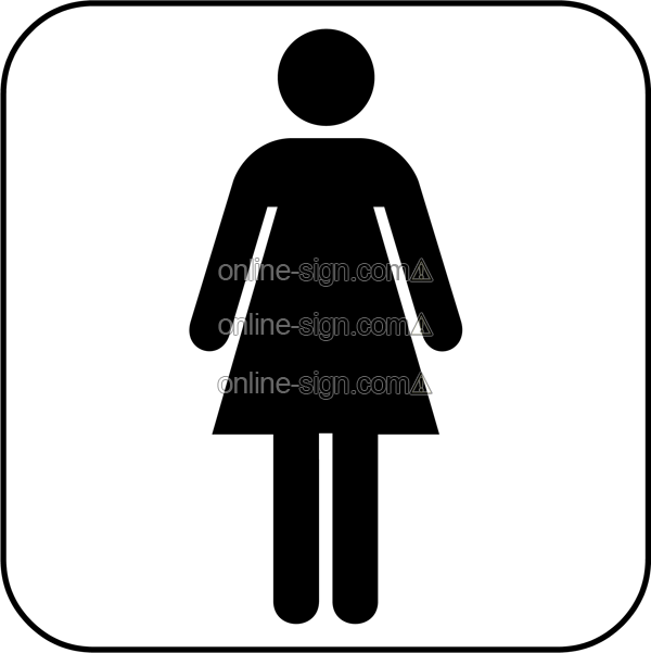 Ladies toilet  Sign DataBase Comprehensive guide to signs signage labels and. Toilets Signs To Print Free